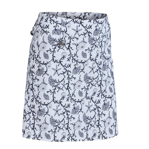 Daily Sports Black Coral White Skort