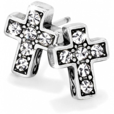 Brighton | Starry Night Cross Mini Post Earrings