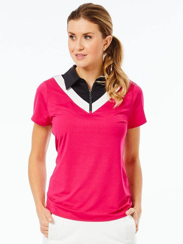 Belyn Key Madrid Chevron Short Sleeve Polo (Multiple Colors) - Gals on and off the Green