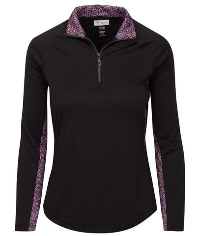 Greg Norman Dynasty Dianna 1/4 Mock Long Sleeve