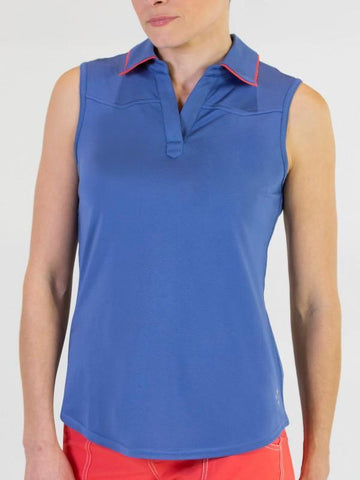 JoFit Dixie Tipped Sleeveless Polo