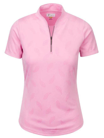 Greg Norman Dynasty Elizabeth Short Sleeve Tulip Neck