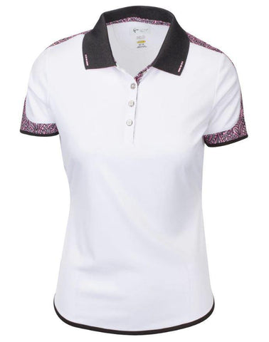 Greg Norman Dynasty Emma Short Sleeve Polo
