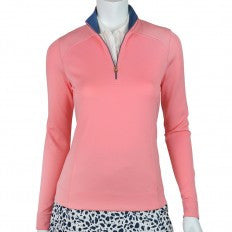Fairway & Greene Key Biscayne Wells Zip Mock Long Sleeve