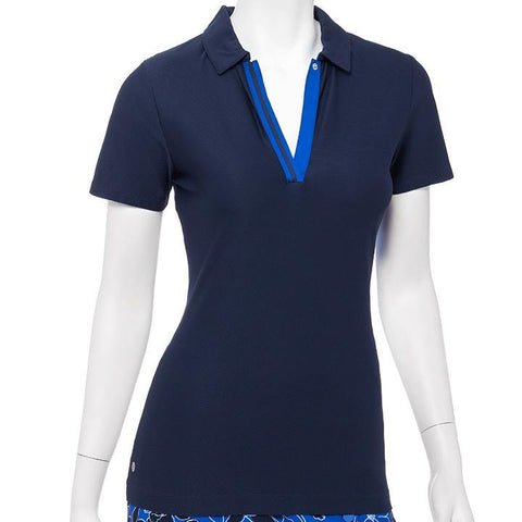 EP Pro Out of the Blue Inky V Neck Polo