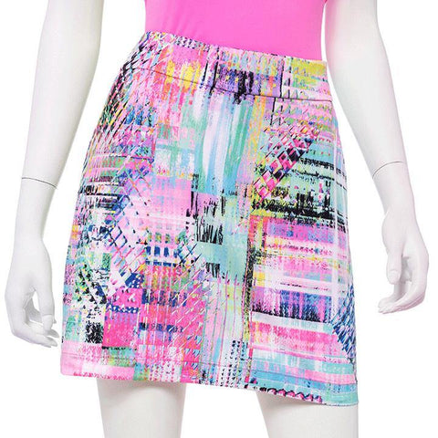 EP Pro True Colors Rainbow Patchwork Skort - Gals on and off the Green