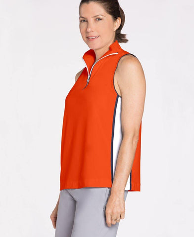 KINONA Sporty Shoulders Sleeveless Golf Top