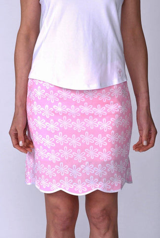 Golftini Flower Power Stretch Cotton Skort