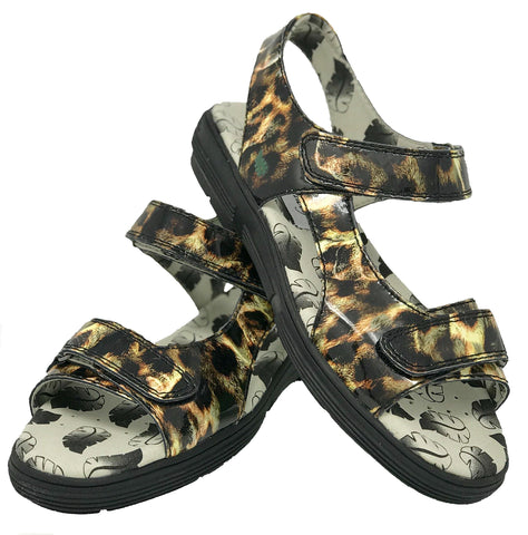 Greenleaf Sport Leopard Print Spikeless Golf Sandal