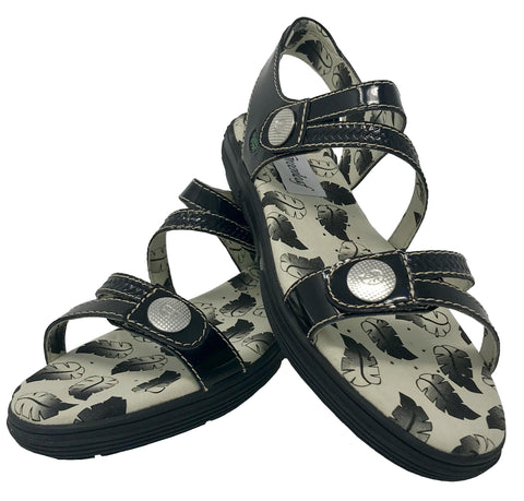 Greenleaf Sport Unity Patent Black Spikeless Golf Sandal