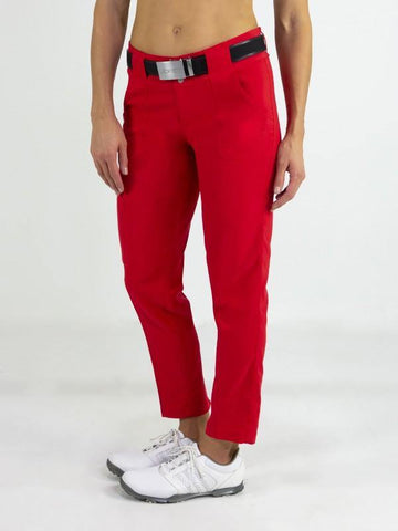 JoFit Prosecco Belted Cropped Golf Pant