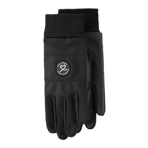 Daily Sports Ella Black Gloves With Logo