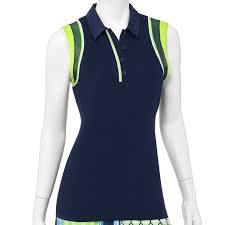 EP Pro Good Sport Contrast Overlay Sleeveless Polo - Gals on and off the Green