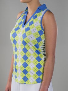 JoFit Chardonnay Argyle Cut Away Polo
