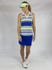 JoFit Mai Tai Cut Away Stripe Sleeveless Polo