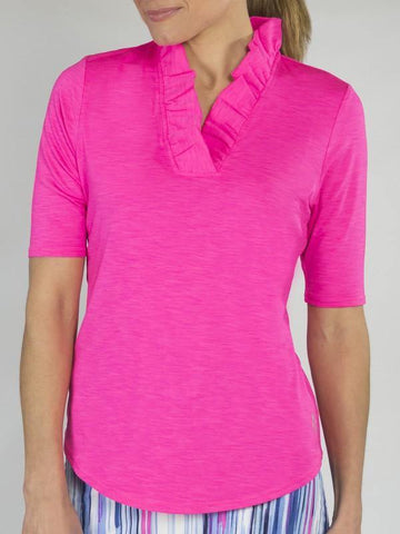 JoFit Champagne Millie 1/2 Sleeve Polo