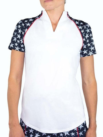 JoFit Firecracker Vista Mock Polo