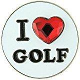 "Bonjoc Swarovski Crystal ""I ♥ Golf"" Ball Marker"