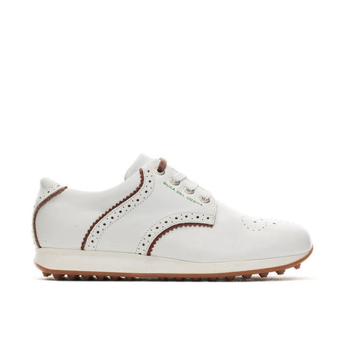 Duca Del Cosma Isabel White Golf Shoe
