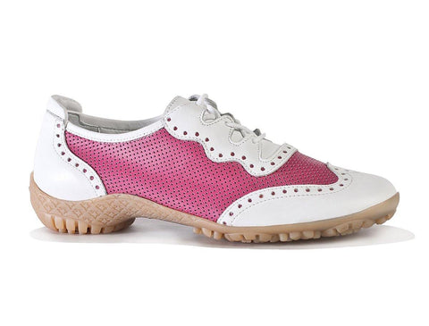 Walter Genuin Jamie White-Fuschia Golf Shoe