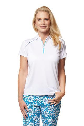 Sport Haley Capri Lattie Short Sleeve Solid Polo - Gals on and off the Green