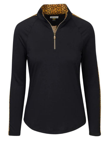 Greg Norman Untamed Leona 1/4 Zip Mock