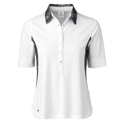 Daily Sports Luna White Half Sleeve Polo