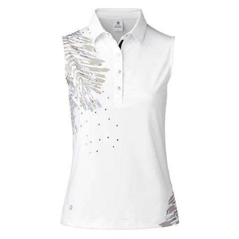 Daily Sports Lynn White Sleeveless Polo