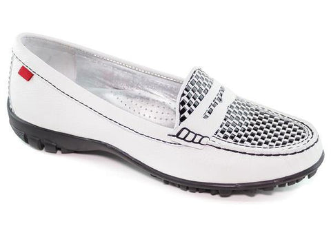 Marc Joseph Union Weave Golf Shoe White/Black