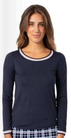 Golftini Long Sleeve with Mesh Trim Top