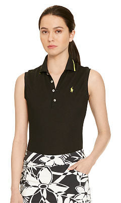 Ralph Lauren Tailored Sleeveless Pima Polo