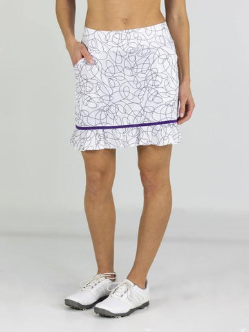 JoFit Sierra Piped Ruffle Skort (Long)