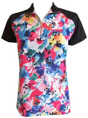 EP Pro A Place In The Sun Mesh Floral Polo