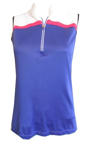 EP Pro A Place In The Sun Plus Size Grape Ice Sleeveless Polo