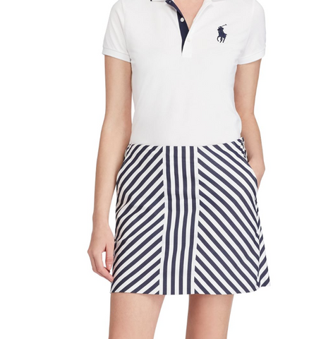 Ralph Lauren Striped Sateen Skort
