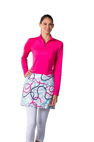 SanSoleil SolCool Unbridled Pink Skortie with Attached Legging