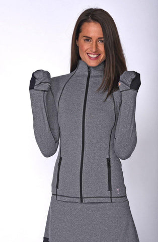 Golftini Heathered Tech Jacket