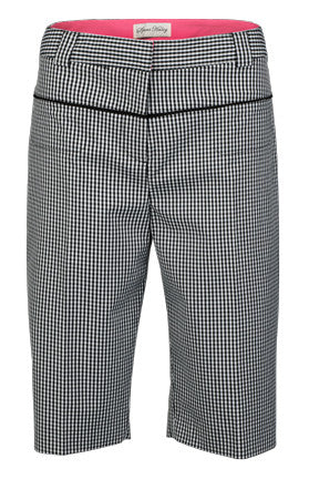 "Sport Haley Get This Party Started Gingham Plaid Zip Pocket 22"" Short"