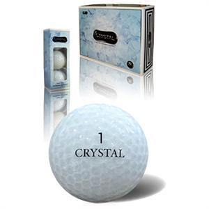 White Crystal Golf Balls