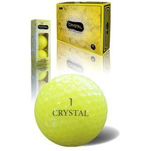 Yellow Crystal Golf Balls