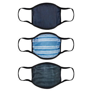 Denim Double Layer Adult's Face Mask - 3 Pcs