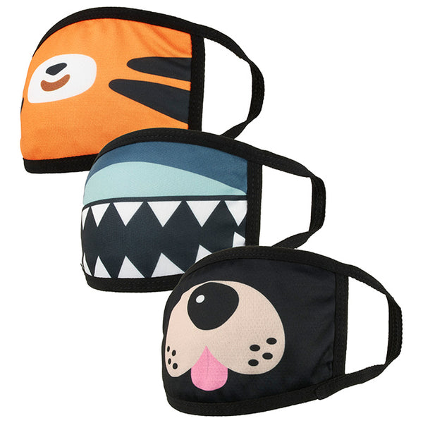 Animal Double Layer Kid's Face Mask - 3 Pcs