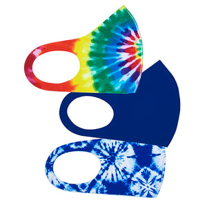 Tie Dye Soft Stretch Adult's Face Mask - 3 Pcs