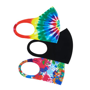 Tie Dye Soft Stretch Kid's Face Mask - 3 Pcs