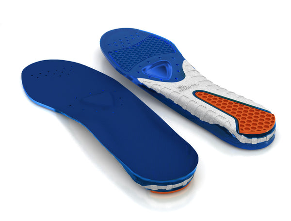 Top and Bottom view of the Spenco gel comfort cushioned insoles
