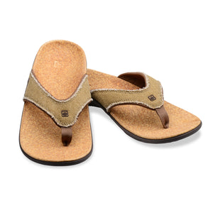 A pair of Spenco Men's Yumi plus Cork color Sandal