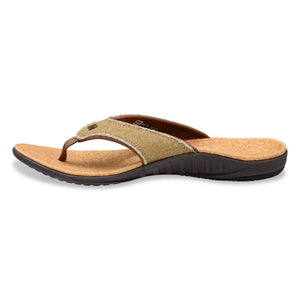 Side view of Spenco Men's Yumi plus Cork color Sandal