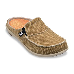 Spenco Women's Siesta Slide Canvas Tan color Sandal