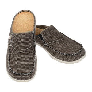 A pair of Spenco Brown color Men's siesta slide comfort sandals