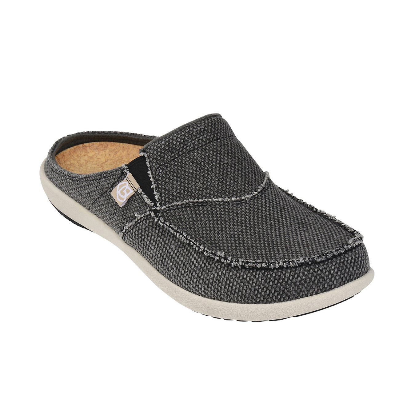 70bd4882ffe Men s Siesta Slide Canvas - Charcoal Grey - Implus Canada